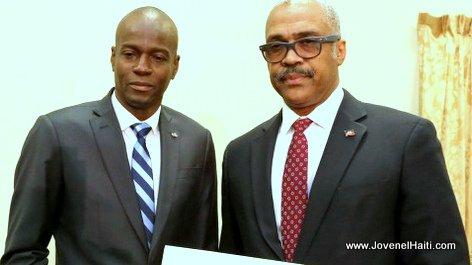 PHOTO: Haiti - President Jovenel Moise & Premier Ministre Jack Guy Lafontant