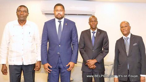Haiti president Jovenel Moise meet leaders of the other branches of government