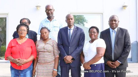 Meeting between Haitian President Jovenel Moise and members of the informal business sector