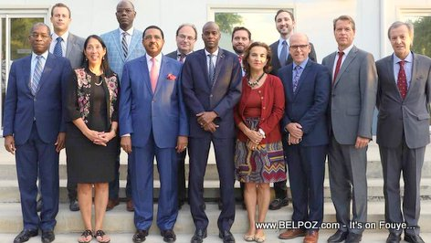President Jovenel Moise met with the Core Group after the gas price hike protests
