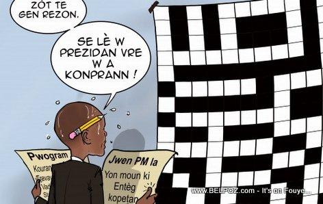 Haiti Caricature - Martelly was right, Lè w President w a Konprann