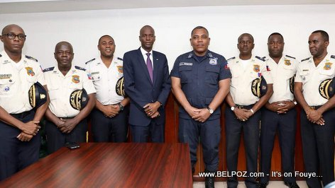 PHOTO: Haiti President Jovenel Moise and  the High command of the National Police of Haiti