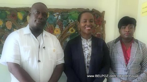Haiti First lady Martine Moise and Delegue Gariga Narcisse