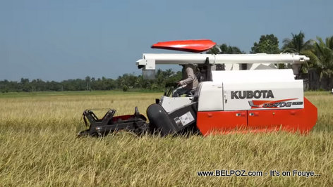 Introduction of the Kubota DC70 G Plus combine harvester in Haitian agriculture