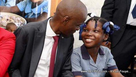 Haiti Education: President Jovenel Moise and a Haitian Student