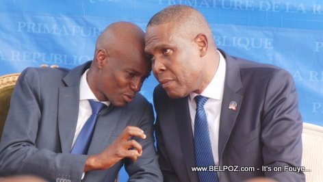 President Jovenel Moise and his new Prime Minsiter Jean Henry Ceant