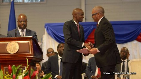 PHOTO: Haiti - President Jovenel Moise and PM Lafontant - Investiture