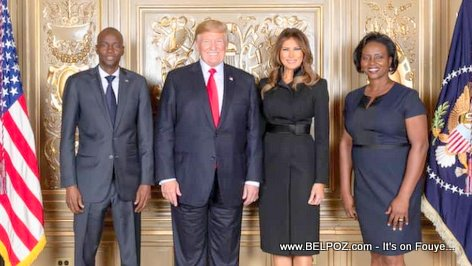 PHOTO: Presidents Jovenel Moise and Donald Trump - UN General Assembly 2018