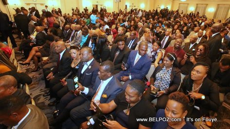 President Jovenel Moise met with the Haitian community in Spring Valley New York
