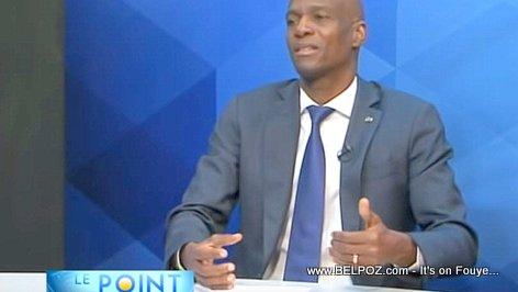 President Jovenel gives a two-hour interview to Tele Metropole's Le Point