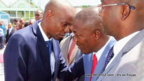 President Jovenel Moise head to head with Eddy Jackson Alexis, his new Secretaire d'Etat a la Communication