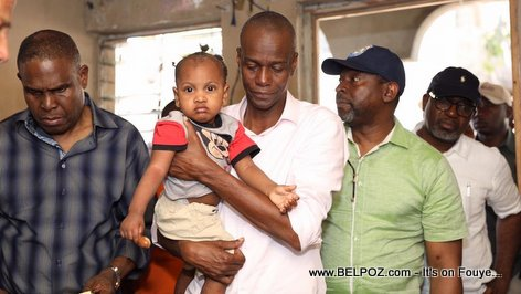 President Jovenel Moise and PM Henry Ceant visit the people affected by October 2018 Haiti Earthquake