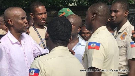 Haiti President Jovenel Moise visits Gros-Morne after the Earthquake