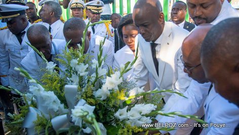 PHOTO: Haiti President Jovenel Moise Commemorates Death of Jean-Jacques Dessalines in Pont Rouge - 17 Octobre 2018