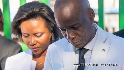 PHOTO: Haiti President Jovenel Moise and first lady Martine Moise in Pont Rouge - 17 Octobre 2018