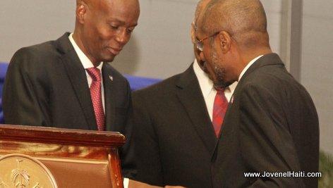 PHOTO: Haiti - President Jovenel Moise and Jude Alix Patrick Salomon, Ministre de l'economie et des Finances