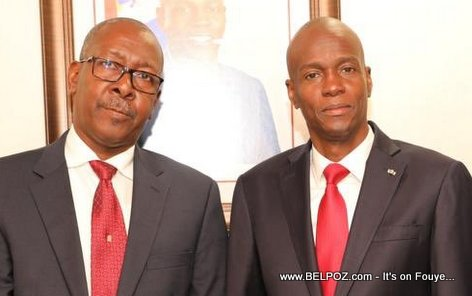 President Jovenel Moise and his new Chief of Staff Nahomme Dorvil