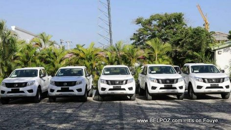 Brand new vehicles for the Haitian city mayors, courtesy of President Jovenel Moise