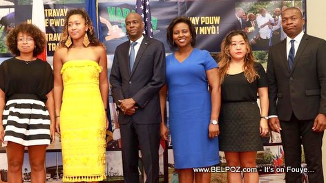 Haiti President Jovenel Moise welcomes Naomi Osaka and Family to the National Palace