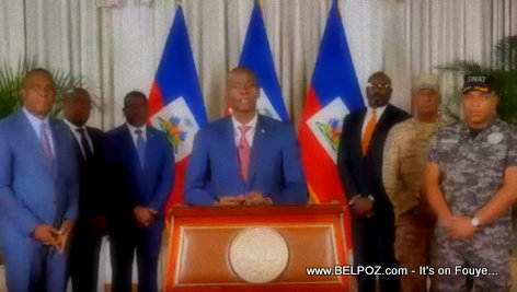 Haiti - President Jovenel Moise addressing the Nation in company of CSPN - 21 Nov 2018
