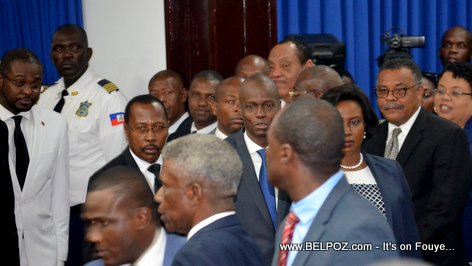 Haiti President Jovenel Moise at the National Assembly - January 2019