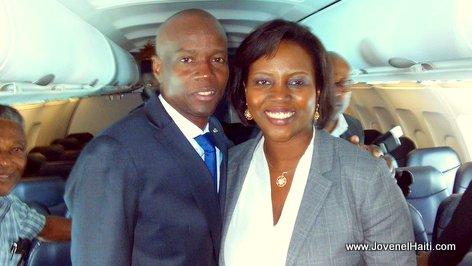 Haiti President Jovenel Moise on a Spirit Airlines Flight