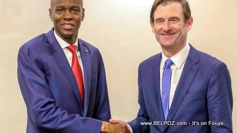 President Jovenel Moise meets with David Hale, US Under Secretary of State