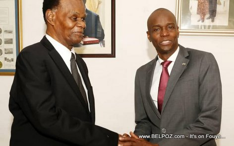 Haiti President Jovenel Moise meets ex president Boniface Alexandre