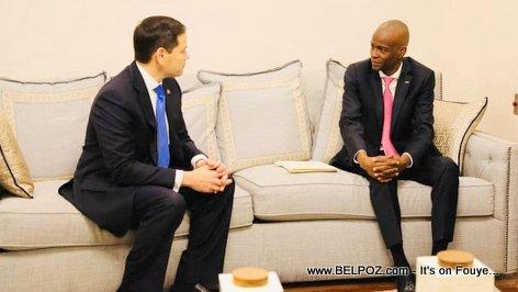 Haiti president Jovenel Moise meets with US Senator Marco Rubio
