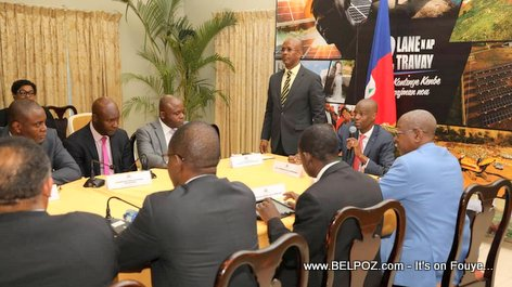 President Jovenel Moise installs Interim Prime Minister Jean Michel Lapin
