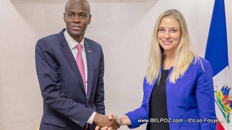 Haiti president Jovenel Moise meets Cynthia A. Kierscht
