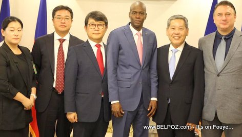 President Jovenel Moise meets S & H Global board of directors to discuss jobs in Haiti