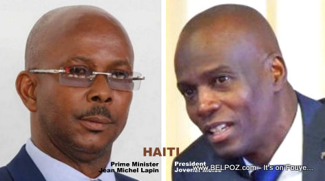 President Jovenel Moise and his new Prime Minister Jean Michel Lapin