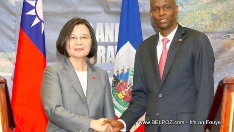 Visit to Haiti: Taiwan President Tsai Ing-Wen and Haitian president Jovenel Moise
