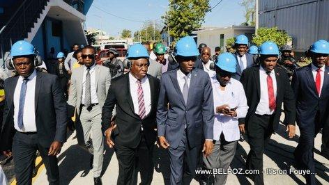 President Jovenel Moise visits Varreux power plant Haiti