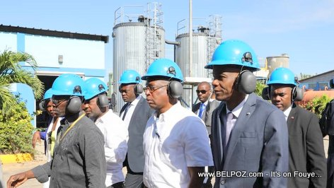 Haiti Electricity - President Jovenel Moise visits Varreux Power Plant