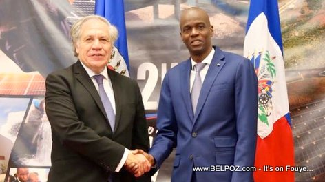 President Jovenel Moise meet OAS Secretary General Luis Almagro