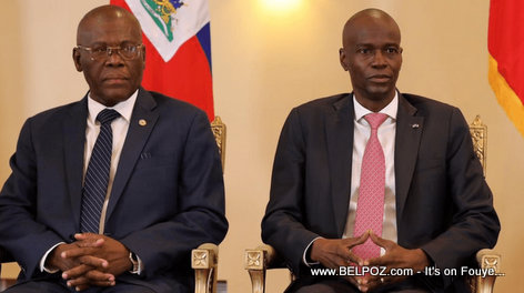 president  Jovenel Moise and his new prime minister Joseph Jouthe