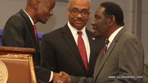 PHOTO: Haiti - President Jovenel Moise and Fritz Caillot, Ingenieur Ministre des Travaux Publics (TPTC)