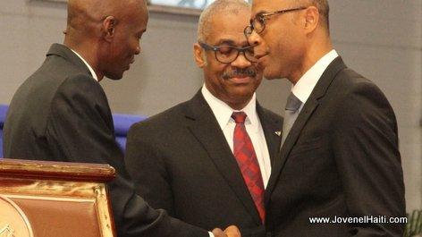PHOTO: Haiti - President Jovenel Moise and Pierre Marie du Meny, Ministre du Commerce et de l'Industrie