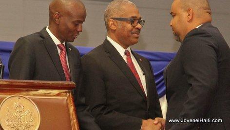 PHOTO: Haiti - President Jovenel Moise and Max Rudolph Saint-Albin, Ministre de l'Interieur et des Collectivites Territoriales