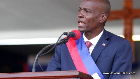 PHOTO: Haiti President Jovenel Moise, Inauguration Speech, 07 Fevrier 2016