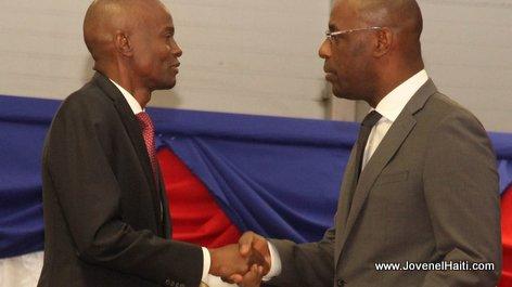 PHOTO: Haiti - President Jovenel Moise and Aviol Fleurant, Ministre de la Planification et de la Cooperation Externe