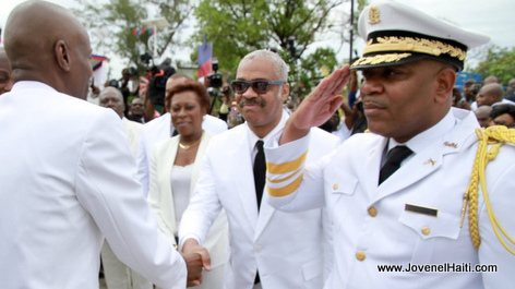 Haiti - President Jovenel Moise, PM Jack Guy Lafontant, DG Michel-Ange Gédéon, Haitian Flag Day, Arcahaie, 18 Mai 2017