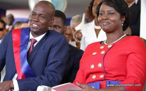 PHOTO: Haiti - President Jovenel Moise and First Lady Martine Moise, Inauguration Day