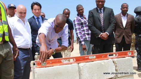 PHOTO: Haiti - President Jovenel Moise lays foundation stone at Lafito Industrial Free Zone