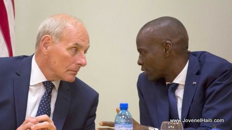 U.S. Homeland Security Secretary John Kelly and Haiti President Jovenel Moise