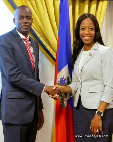 PHOTO: Haiti president Jovenel Moise and Congresswoman MIA Love