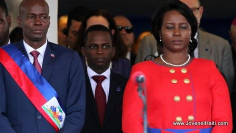 PHOTO: Haiti - President Jovenel Moise and First Lady Martine