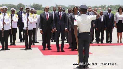 Haiti - President Jovenel Moise retour son voyage officiel